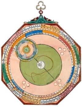 Wheel chart for Jupiter's orbit, 1540