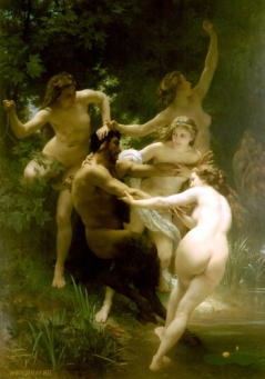 William-Adolphe Bouguereau - Nymphs and Satyr (1873)_