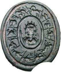 roman intaglio of the zodiac