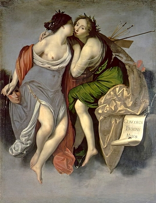 Francesco Furini - Allegory of the Union of Painting and Poetry 1626 - (MeisterDrucke-304572) (2)